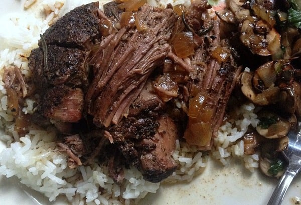 Fall Apart Beef Roast plate
