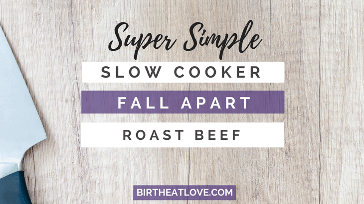 Try this easy healthy slow cooker recipe! Super simple fall apart roast beef!