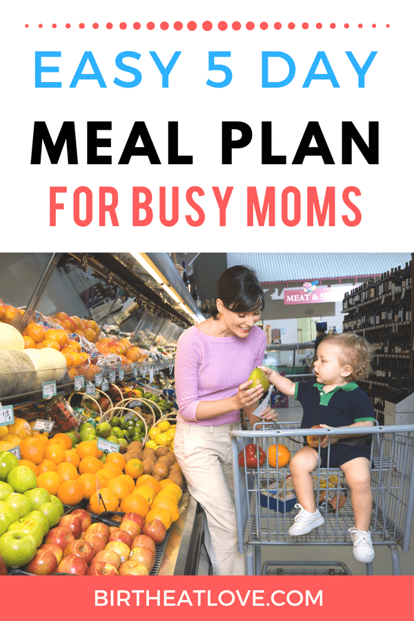 Busy mom with no time to cook? Check out this done for you 5 day meal plan. Quick, easy and healthy recipes to feed your family (without the stress)!