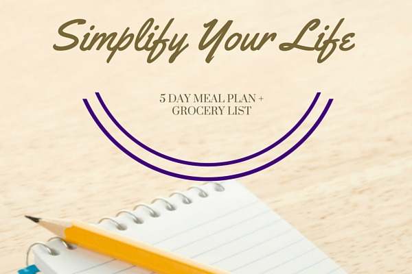 Simplify Your Life with Meal Planning
