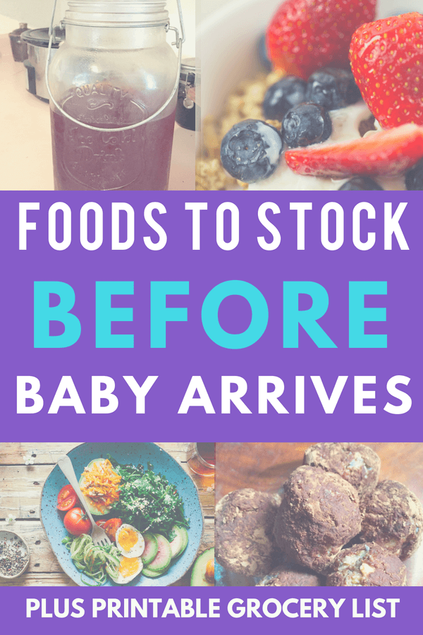 Getting ready for baby? Fill your fridge with these foods in the 3rd trimester so that you are ready for postpartum and breastfeeding.