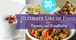 Check out this Ultimate List of Food for pregnancy and breastfeeding. Recipes for snacks, dinner and make ahead freezer items all based on the best pregnancy and breastfeeding superfoods. Plus get a free printable grocery shopping list.
