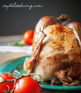Slow Cooker Rotisserie Chicken by Crystal and Comp