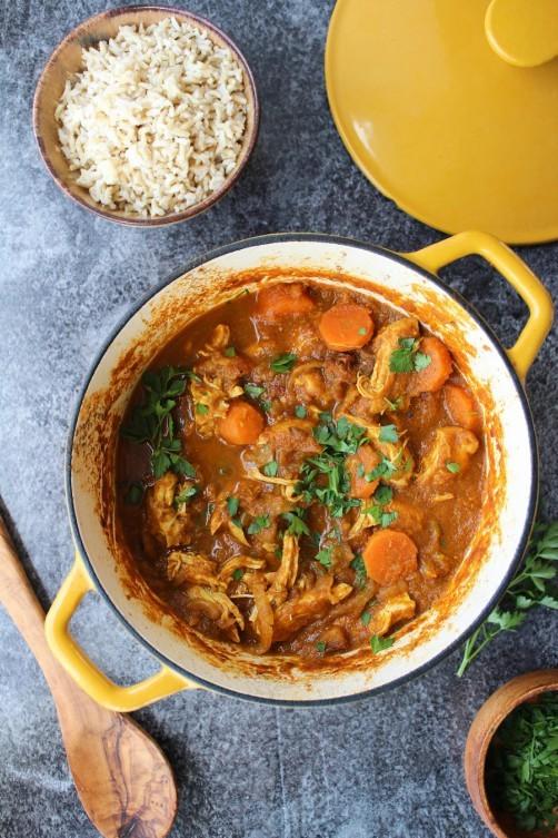 Paleo Moroccan Chicken Stew from a Saucy Kitchen