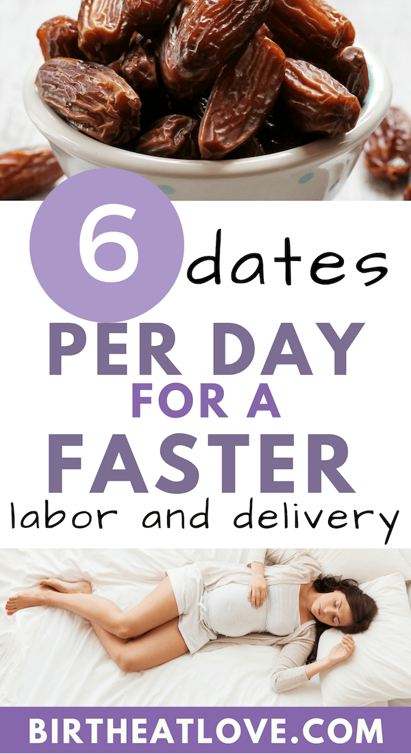 Eat 6 dates a day for a faster labor! Date recipes for pregnancy.