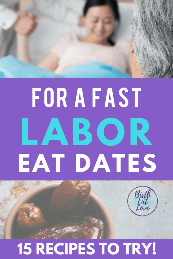 Want a fast labor? Eat date fruit for easier childbirth! 15 recipes to try! #childbirth
