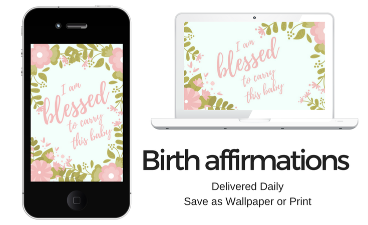 birth affirmations delivered to your inbox