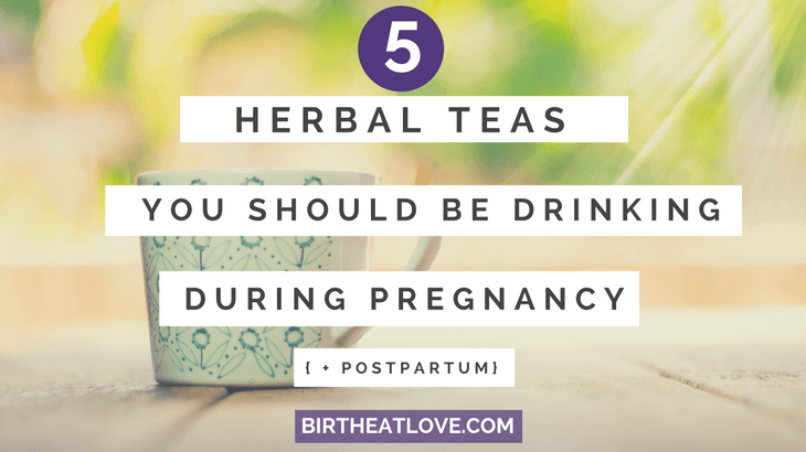 Harness the power of herbal tea during pregnancy and postpartum! Nourishing your pregnant body is a top priority. Drinking tea is an easy way to boost nutrients so you can grow a healthy baby. During the postpartum period, herbal tea can provide nourishment for the body to heal.
