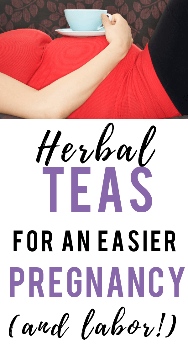 Pregnancy tea that is safe and can help you grow a healthy baby! There are so many benefits to drinking herbal pregnancy tea! Help alleviate unwanted pregnancy symptoms like leg cramps and constipation. Prepare your body for an easier labor with these 5 herbal teas! #pregnancy #tea