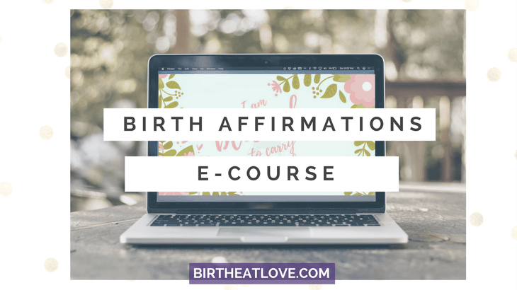 Birth affirmations Email course. Affirmations delivered to your inbox.