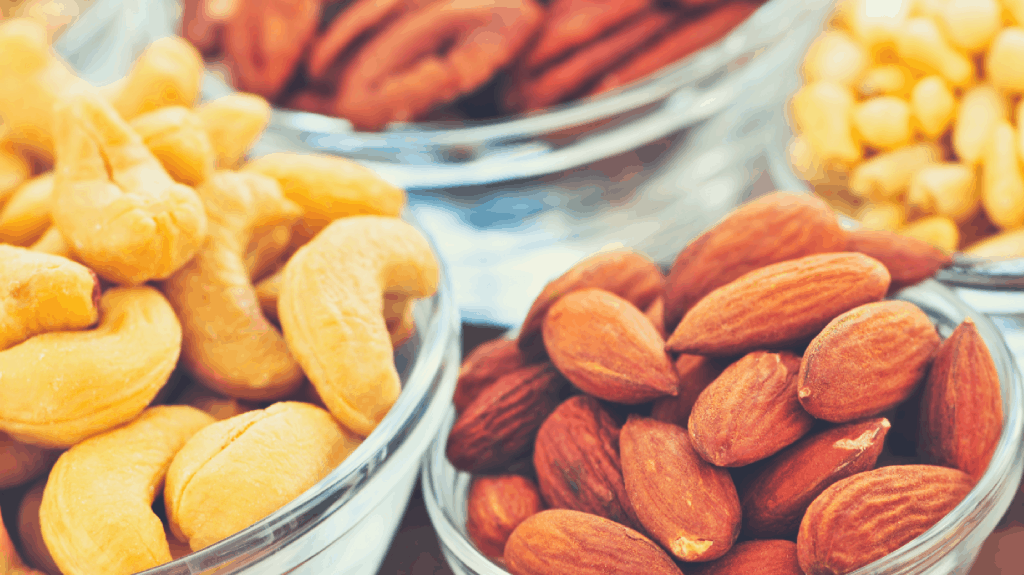 Nuts are an excellent source of protein and iron. Perfect healthy pregnancy snack!