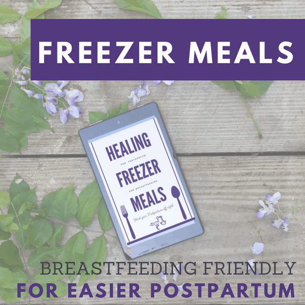 Making pre baby freezer meals? Make freezer meals that actually support breastfeeding and healing. 12 recipes with leftover suggestions and a grocery shopping list!