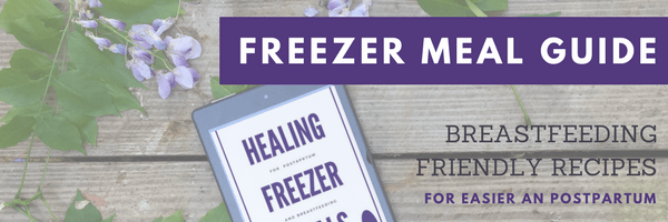 Need breastfeeding friendly recipes? This ebook has 12 freezer meal recipes that support breastfeeding and healing postpartum.