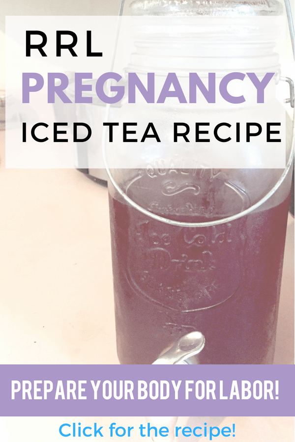 Red raspberry leaf pregnancy iced tea recipe. Get your body ready for labor! #pregnancy