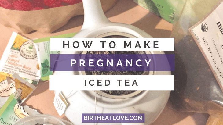 pregnancy iced tea recipe featuring red raspberry leaf