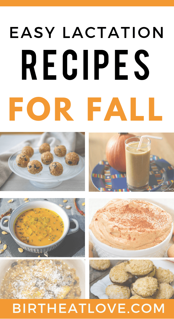 Easy breastfeeding recipes for Fall. Healthy pumpkin recipes to increase m ilk supply. Smoothies, oatmeal and even dinner recipes with pumpkin!