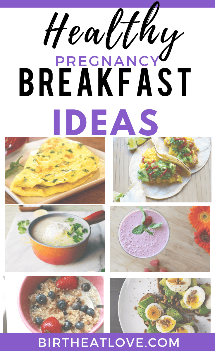 Healthy pregnancy breakfast ideas to help you have more energy. Clean eating recipe ideas to add to your healthy pregnancy diet based on the best foods to eat during pregnancy to grow a healthy baby.