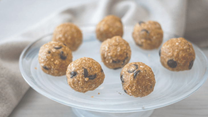 No bake pumpkin lactation bites are easy way to boost milk supply.