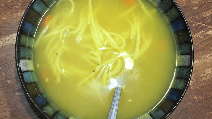 Chicken Soup for breastfeeding from the Ebook Healing Freezer Meals for Postpartum and Breastfeeding.
