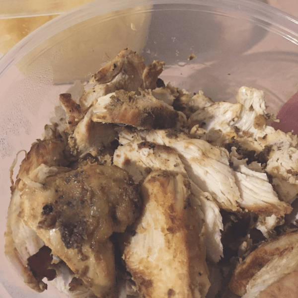 Batch cooking - cut up chicken for easy lunches or dinners.