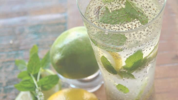 Healthy drinks for pregnancy - chia fresca
