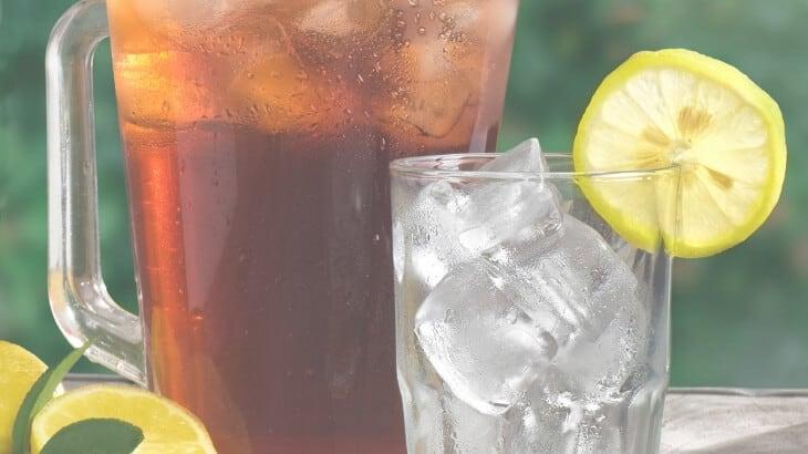 Pregnancy drinks - iced tea