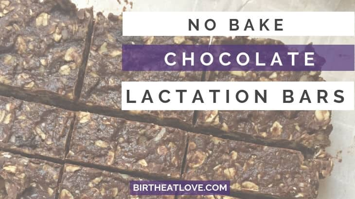 no bake chocolate lactation bars recipe